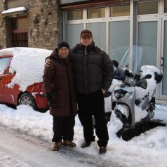 Nevicata a Firenze del 2010 davanti al Laboratorio