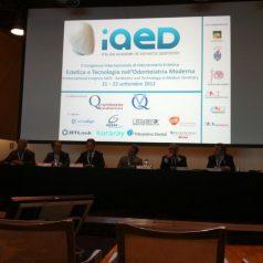 2° Congresso dell'Accademia Italiana di Estetica Dentale IAED. Nomina a Socio Attivo di Riccardo Puccini 2012